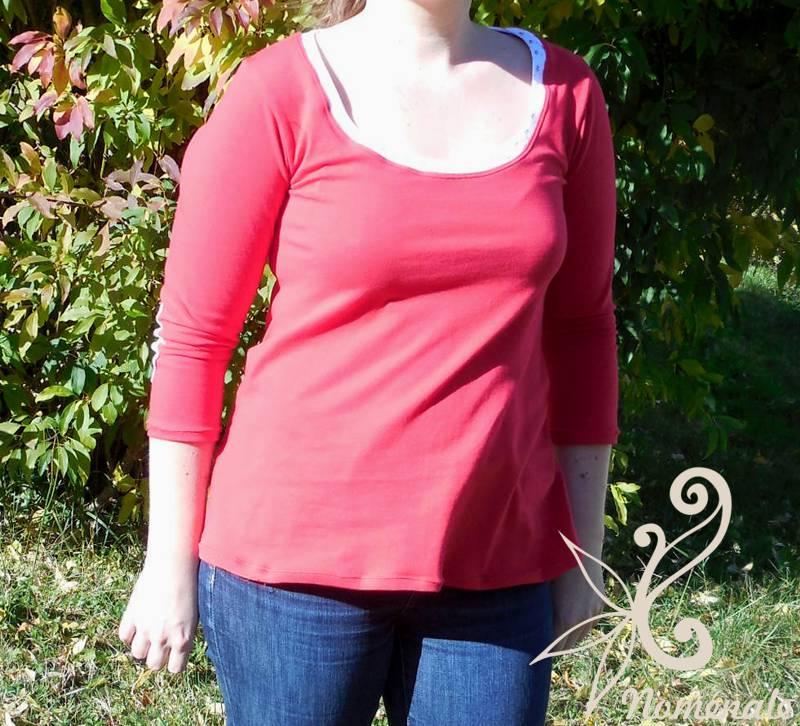 La vache, il y avait du soleil! Le tee-shirt est rouge...
